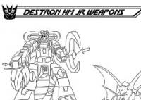 Destron Headmaster Juniors' Weapons: Ark Addendum