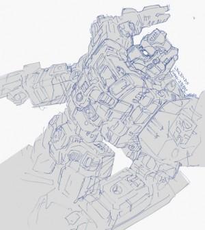 Takara Tomy Transformers Legends Super Ginrai TFYuki Sketch