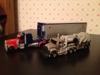 Transformers News: Transformers Movie Trilogy Series Deluxe Optimus Prime with Trailer In-Hand Images