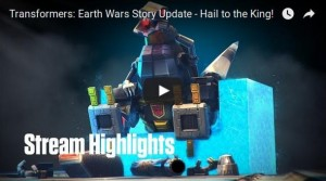 Transformers News: April Fools': Transformers: Earth Wars Story Update - All Hail The King