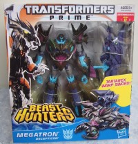 Transformers News: Transformers Prime Beast Hunters Voyager Megatron In-Package Images
