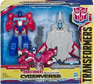 Transformers News: New Images of Cyberverse Spark Armor Bumblebee and Optimus with Ark Armor
