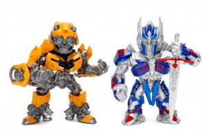 "Transformers News: Metals Diecast Transformers: The Last Knight 4"" Optimus Prime & Bumblebee"