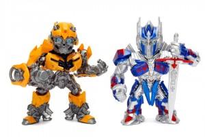 "Metals Diecast Transformers: The Last Knight 4"" Optimus Prime & Bumblebee"