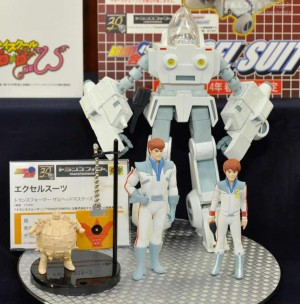Transformers News: Color Image CM's Corp Excel Suit Spike and Daniel with Grand Galvatron Prototype and Master Sword Floppy Disk