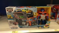 Transformers News: Transformers: Rescue Bots Optimus Prime Rescue Trailer and Flip Changers at Retail