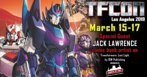Transformers News: TFcon USA 2019 Guest Update - Jack Lawrence