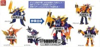 Transformers News: Transformers Go! Swordbot Shinobi Team Gift Set Solicitation Image: All Three Combined Modes