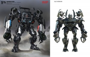 Transformers: The Last Knight Concept Art: Cybertron on Earth, Early Barricade, Daytrader