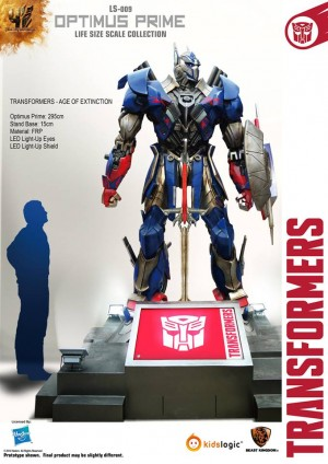 Transformers News: Kids Logic Transformers:Age of Extinction LS-009  Optimus Prime & LS-010 Bumblebee 3 Meter Statues