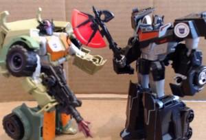 Video Review - Takara Tomy Transformers Adventure TAV08 Gregevor and TAV13 Nemesis Prime