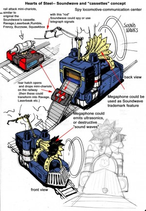 IDW Hearts of Steel Soundwave Guido Guidi Concept Art