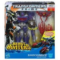 Transformers News: Transformers Prime Beast Hunters Voyager Shockwave Available for Pre-Order at HasbroToyShop.com