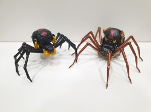 Kingdom Cheetor and Blackarachnia comparison images with their Masterpiece figures