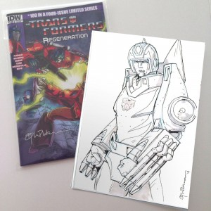 Transformers News: Andrew Wildman Transformers: Regeneration One #100 Variant Covers with Rodimus Sketch Auctions