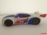 "Transformers News: In-Hand Images: Transformers Prime ""Beast Hunters"" Smokescreen"