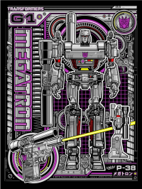 Megatron Print From Acid Free Gallery Today