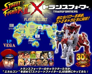 Transformers News: Transformers X Street Fighter II Figures Revealed: Ryu vs M. Bison, Chun-Li vs Ken