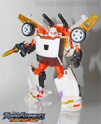 Transformers News: TFCC Runamuck Production Sample Robot Mode Image