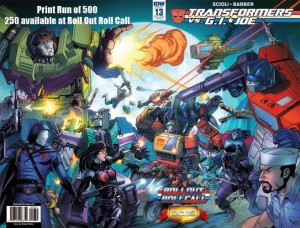 Transformers News: IDW Transformers vs. G.I. Joe #13 Atkins / Lafuente Roll Out Roll Call Variant Cover