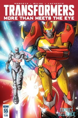 IDW Transformers: More Than Meets the Eye #55 ROM the Spaceknight Variant Cover by Brendan Cahill