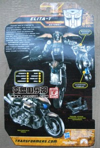Biography of Hunt for the Decepticons Deluxe Elita-1