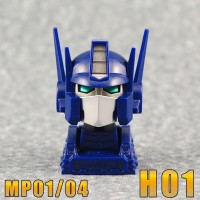New Color Images of iGear's MP Convoy / Prime Animated Heads