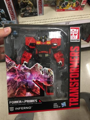 Transformers News: Transformers Power of the Primes Inferno found at US Retail