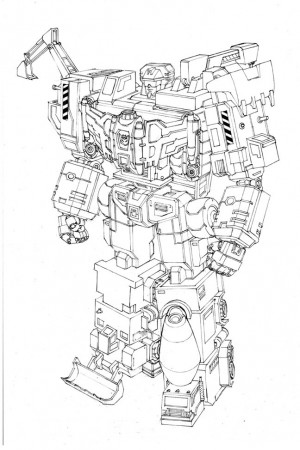 Transformers News: Machinima Transformers Combiner Wars Devastator Design Image By Andrew Griffith