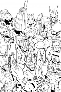 Transformers News: Nick Roche Shares Lineart for More Than Meets The Eye Issue 1 Cover