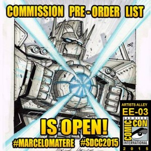 San Diego Comic Con and Transformers - Artist Updates: Marcelo Matere