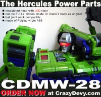 Transformers News: CrazyDevy CDMW-28  Hercules Head Upgrade