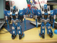 Transformers News: Comparison review between Henkei Thundercracker and the KO.