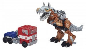 Transformers News: Official Images: Transformers: Age of Extinction Platinum Edition Optimus Prime & Grimlock Set