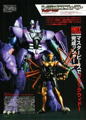Transformers News: New Figure King #256 Scans Showing MP Blackarachnia's Scale