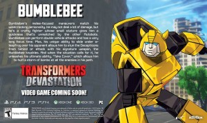 New Transformers: Devastation Trailer and Bio Featuring Bumblebee