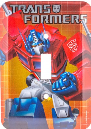 Transformers News: Transformers Embossed Tin Signs, Light switch Cover listed on Hobby Lobby Website