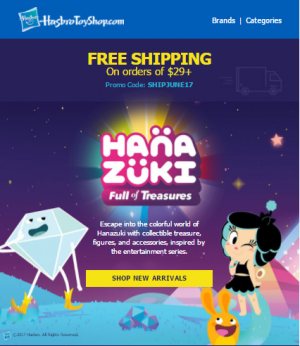 Steal of a Deal: Hasbro Toy Shop Free Shipping of Orders Over 29$ or More With Promo Code!
