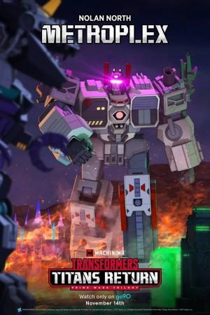 Transformers News: New Machinima Transformers Titans Return Metroplex Poster
