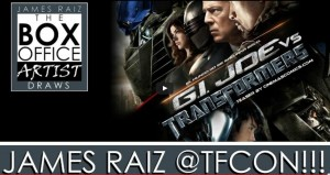 Transformers News: Help Artist James Raiz Draw Transformers / G.I. Joe Art for TFCon