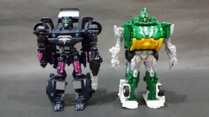 Transformers News: Age of Extinction Power Battlers Junkheap And Vehicon In-Hand Images