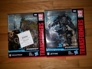 Studio Series SS-34 Megatron and SS-35 Jetfire sighted in