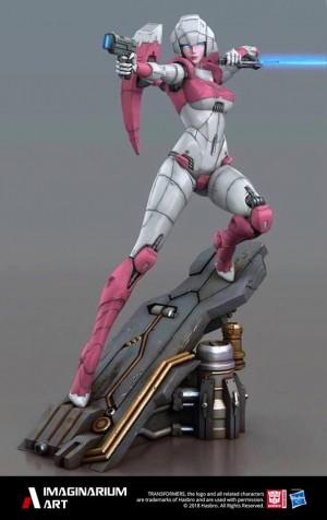 Full Colour Image of Imaginarium Art Transformers Arcee Statue