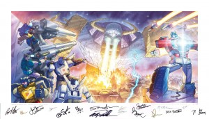 Transformers News: Auto Assembly 2015 Andrew Wildman / Jason Cardy Multi-Autograph Lithograph Charity Auction