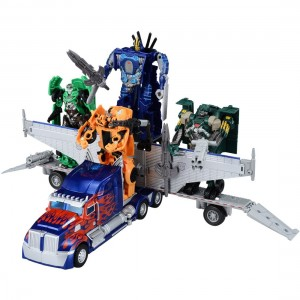 Transformers News: Official Images: Takara Tomy Transformers: Lost Age LA-01 Battle Command Optimus Prime and LA-03 Bumblebee