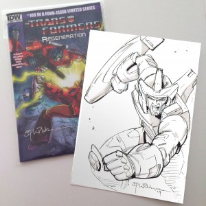 Andrew Wildman Transformers: Regeneration One #100 Variant Covers with Galvatron Sketch Auctions