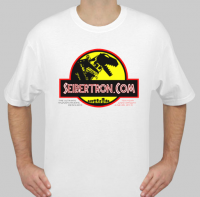 Transformers News: Blowout Sale Continues: Seibertron.com T-Shirts DINO ISLAND and PURPLE PLANET available again!