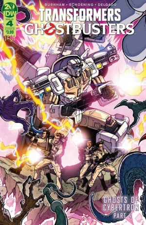 Transformers News: IDW Transformers Ghostbusters Ghosts of Cybertron Part 4 Review