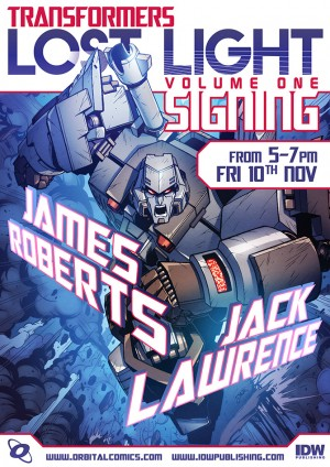 Transformers News: IDW Transformers: Lost Light Volume 1 Launch Event at Orbital Comics, London, UK
