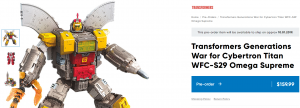 Transformers News: WFC Siege Titan Class Omega Supreme and Thundercracker potentially delayed to October